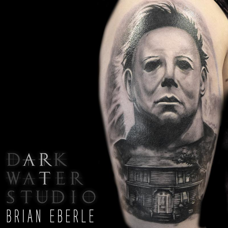Michael myers by shawn morrissette tattoonow for Michael myers tattoo