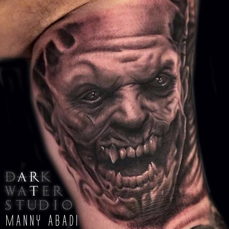 demon face tattoo - photo #38