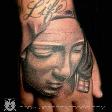 Tattoos - Mary Statue - 97604