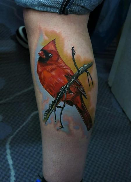 Tattoos - Realistic cardinal bird tattoo - 91204