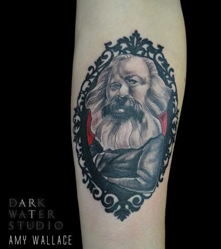 Tattoos - Karl Marx Caricature  - 125204