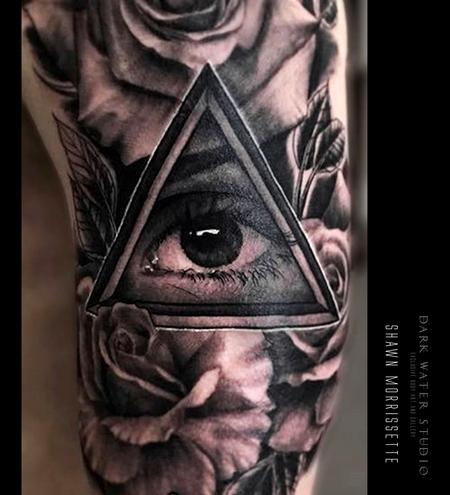 Tattoos - All Seeing Eye & Roses - 127935