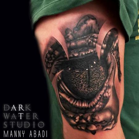 Tattoos - Reptile Eye - 109801