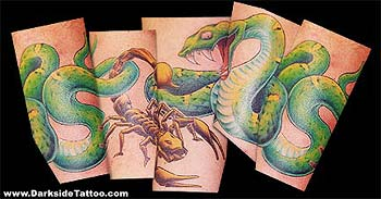 Tattoos - Snake and Scorpion - 370