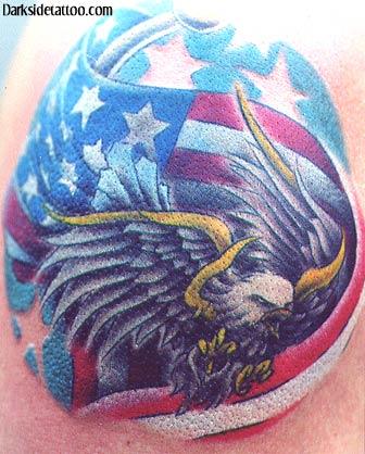 Tattoos - Patriotic Eagle  - 1628
