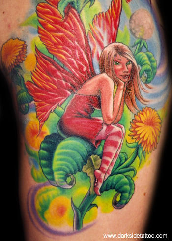 Tattoos - Dandelion Fairy Detail 2 - 3717
