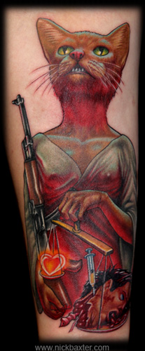 Tattoos - Lady Justice  - 5242