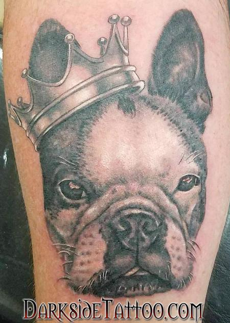 Black and Gray Bulldog Portrait Design Thumbnail