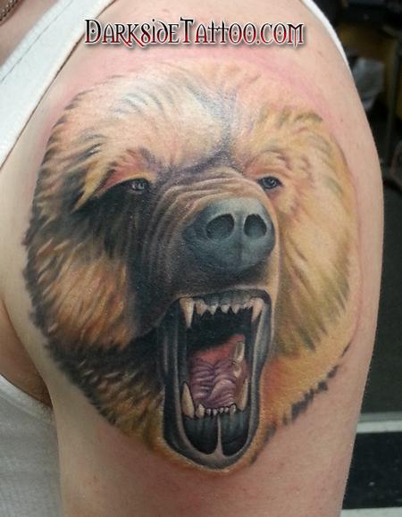 Tattoos - Color Bear Tattoo on arm - 89095