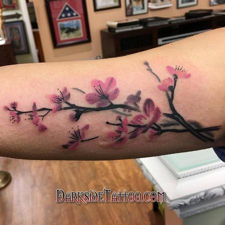 Tattoos - Watercolor Cherry Blossom Tattoo - 113666