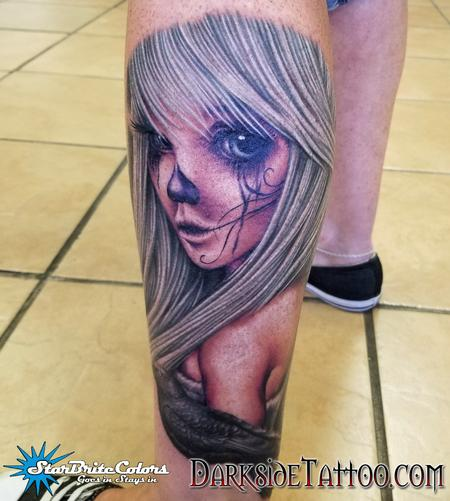 Sean O'Hara - Color Day of the Dead Pin-up Tattoo