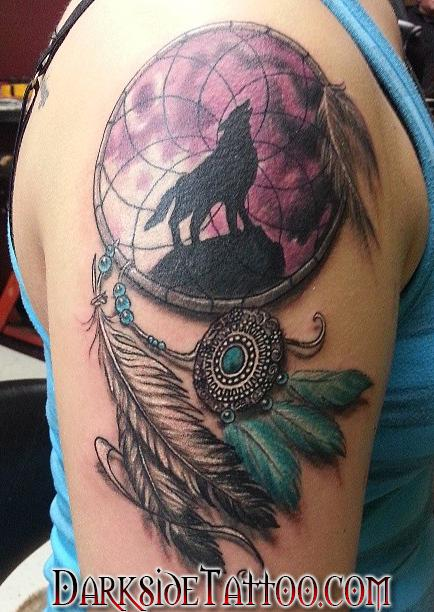 Tattoos - Color Dreamcatcher Tattoo - 88738