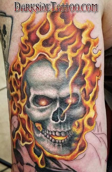 Color Ghostrider Tattoo Tattoo Design