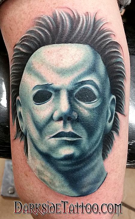 Color Portrait -Michael Myers Tattoo Tattoo Design