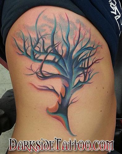Tattoos - Color Tree Tattoo - 91865