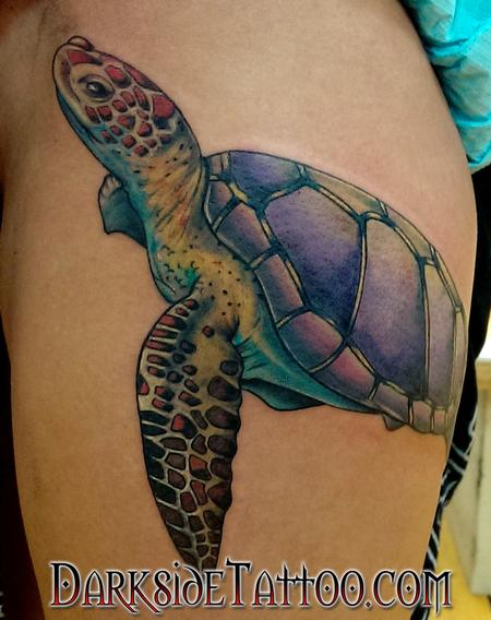 Matthew Kiley - Color Turtle Tattoo