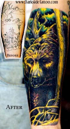 Tattoos - Bear cover up - 341