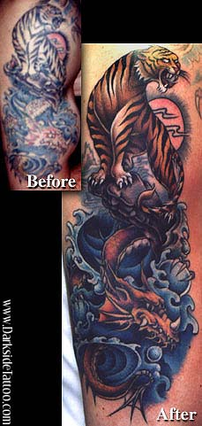 Tattoos - Tiger/Dragon tattoo rework - 460