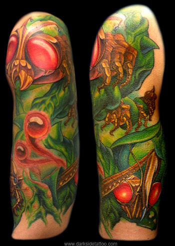 Tattoos - Mechanical Bugs Half Sleeve - 4170