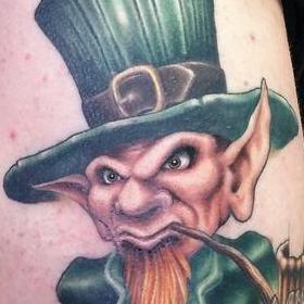 Tattoos - Color Leprachaun Tattoo - 119878