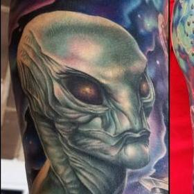 Tattoos - Color Outerspace Tattoo - 130052