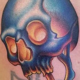 Tattoos - Color Skull Tattoo - 130035