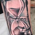 Black and Gray Hourglass Tattoo Tattoo Design Thumbnail
