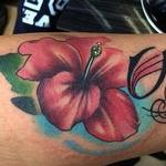 Color Flower and Name Tattoo Tattoo Design Thumbnail