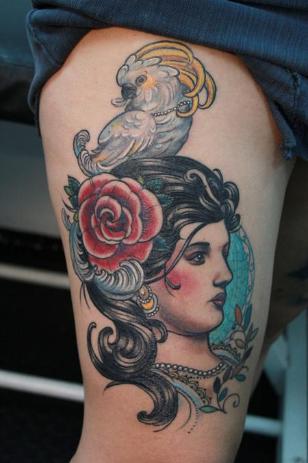 Art Nouveau Tattoo Design Thumbnail