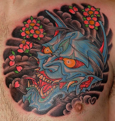 hannya mask tattoo. dresses hannya mask tattoo.