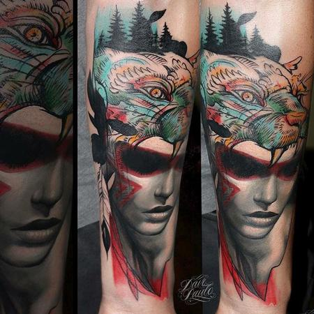 Tattoos - Two-Style Headdress Tattoo - 115002