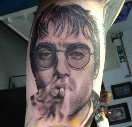 Tattoos - Liam Gallagher Portrait Tattoo - 115351