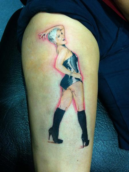 Tattoos - Pink Tattoo - 92182