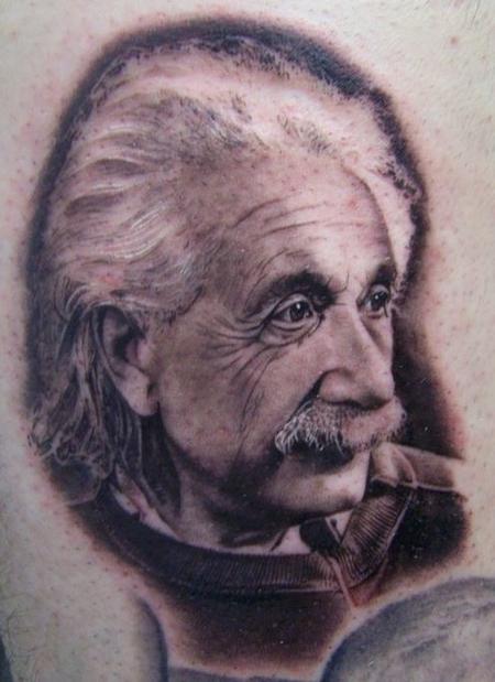 Tattoos - Einstein Portrait - 55256