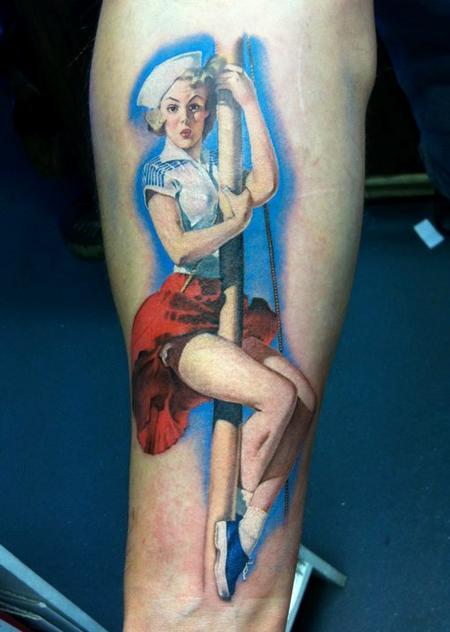 Tattoos - Gil Elvgren Pinup Tattoo - 58211