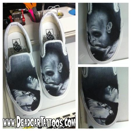 Tattoos - Nosferatu Custom Vans Shoes - 66823