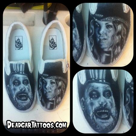 Tattoos - House of 1000 Corpses Custom Vans Shoes - 67643