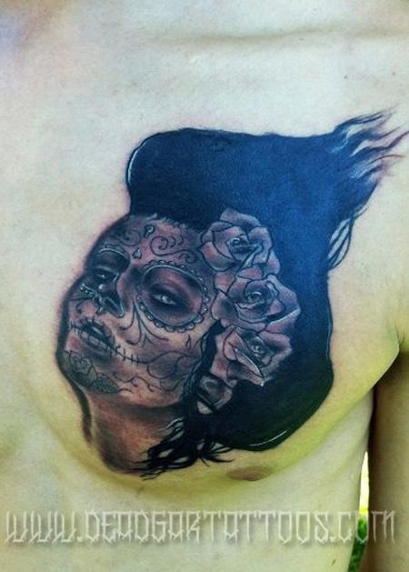 Tattoos - Day of the dead girl - 65584