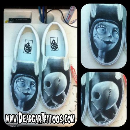 Tattoos - Jack Skellington & Sally Custom Vans Shoes - 67646
