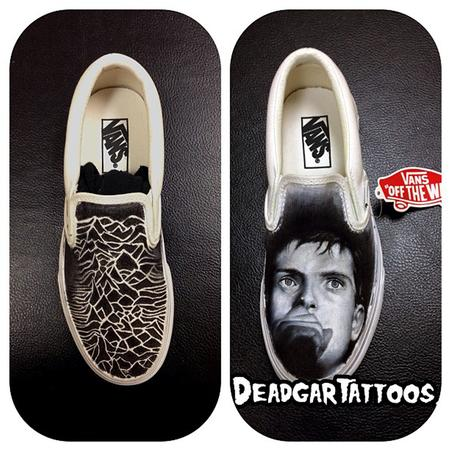 Tattoos - Joy Division Custom Vans - 78837