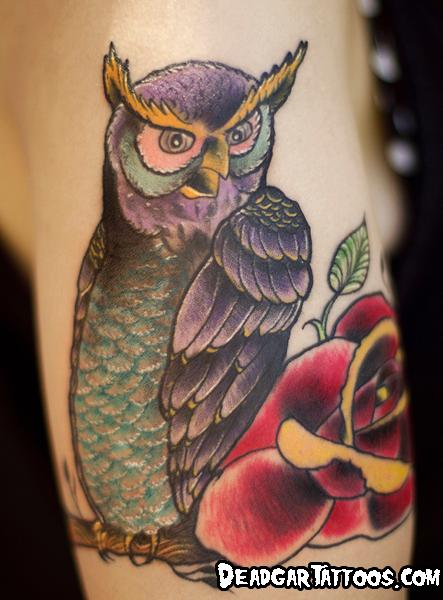 Tattoos - Hootin Owl - 70828