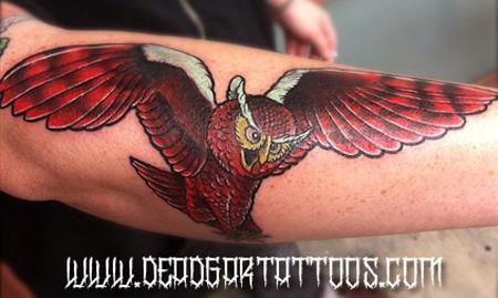 Tattoos - Flying Hoot - 65610