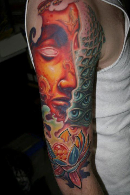 Tattoos - Alex Grey Inspired half sleeve - 75702