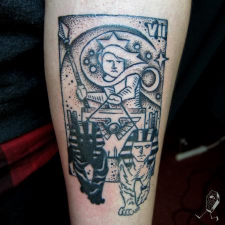 Tattoos - The Chariot Tarot Card - 123502