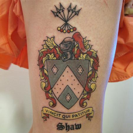 Coat of Arms Tattoo Design