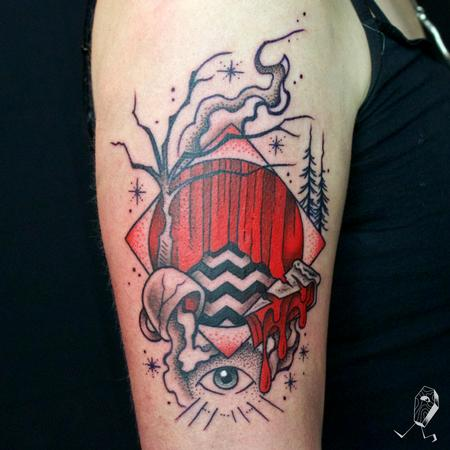 Twin Peaks Portal Tattoo Design Thumbnail