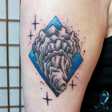Tattoos - Dotwork Oyster - 123503