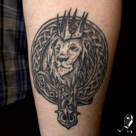 Tattoos - Healed Scottish Coat of Arms - 127505