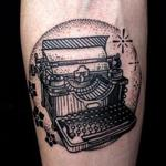 Vintage Illustrative Typewriter Tattoo Design Thumbnail