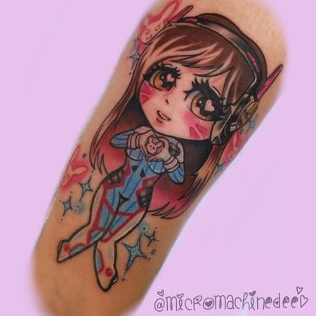 Tattoos - Dva Overwatch Kawaii tattoo - 128623